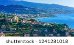 panoramic view of bussana and... | Shutterstock . vector #1241281018
