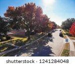 top view beautiful neighborhood ... | Shutterstock . vector #1241284048