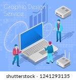 graphic design service concept... | Shutterstock .eps vector #1241293135