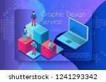 graphic design service concept... | Shutterstock .eps vector #1241293342