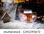 mug of beer with christmas... | Shutterstock . vector #1241293672