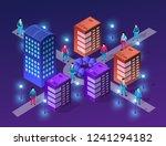 set of modern isometric... | Shutterstock .eps vector #1241294182