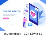 digital health concept. can... | Shutterstock .eps vector #1241294662