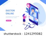 doctor online concept with... | Shutterstock .eps vector #1241295082