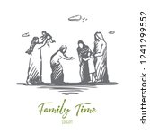 family  family time  holiday ...   Shutterstock .eps vector #1241299552