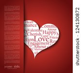 valentine's day card template   Shutterstock .eps vector #124130872