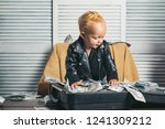 money has no smell. small child ... | Shutterstock . vector #1241309212