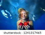 a young beautiful girl with...   Shutterstock . vector #1241317465