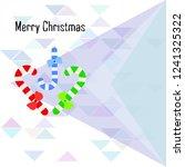 christmas card  christmas candy ...   Shutterstock .eps vector #1241325322
