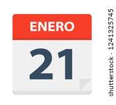 enero 21   calendar icon  ... | Shutterstock .eps vector #1241325745