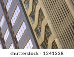 the side of two buildings with... | Shutterstock . vector #1241338