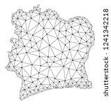 polygonal mesh map of ivory... | Shutterstock .eps vector #1241342218