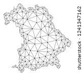 polygonal mesh map of bavaria... | Shutterstock .eps vector #1241347162