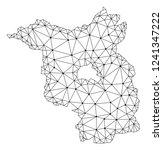 polygonal mesh map of... | Shutterstock .eps vector #1241347222