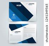 fold brochure template. flyer... | Shutterstock .eps vector #1241349565