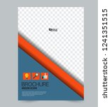 flyer template. design for a...   Shutterstock .eps vector #1241351515