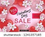 valentine day sale web banner... | Shutterstock .eps vector #1241357185