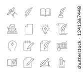 copywriting outline icons | Shutterstock .eps vector #1241367448