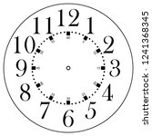 clock face for house  alarm ... | Shutterstock .eps vector #1241368345
