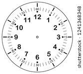 clock face for house  alarm ... | Shutterstock .eps vector #1241368348
