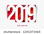 new year 2019 background paper... | Shutterstock .eps vector #1241371465
