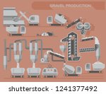 gravel and cement production ... | Shutterstock .eps vector #1241377492
