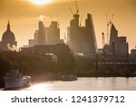 skyscrapers in london at sunrise | Shutterstock . vector #1241379712