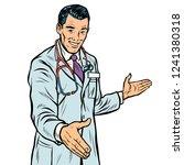 doctor handshake  medicine and... | Shutterstock .eps vector #1241380318
