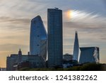 skyscrapers in london at sunrise | Shutterstock . vector #1241382262