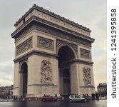 arc de triumph in paris   Shutterstock . vector #1241395858