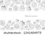 merry christmas white... | Shutterstock .eps vector #1241404975