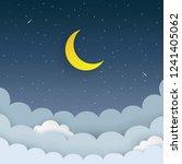 Half Moon  Stars  Clouds  Come...