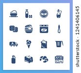 dessert icon set and dough with ... | Shutterstock . vector #1241406145