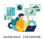 vector illustration of business ... | Shutterstock .eps vector #1241406448