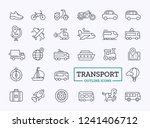 transport thin line icons....