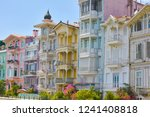 bright colorful houses in... | Shutterstock . vector #1241408818