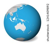 blank  map of australia. 3d... | Shutterstock .eps vector #1241409892