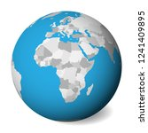 blank map of africa. 3d earth... | Shutterstock .eps vector #1241409895