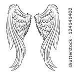vector illustration wings  eps...   Shutterstock .eps vector #124141402