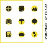 universal icons set with...