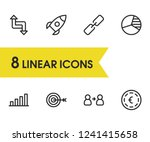 business strategy icons set... | Shutterstock .eps vector #1241415658