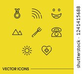 fork icon with light  smile and ...