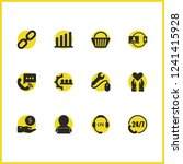 help icons set with speed phone ... | Shutterstock .eps vector #1241415928