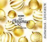 christmas background with tree... | Shutterstock .eps vector #1241418178