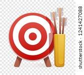target arrow icon. cartoon of... | Shutterstock .eps vector #1241427088