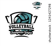 volleyball tropy logo   Shutterstock .eps vector #1241427298