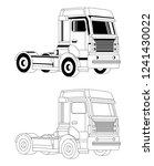 truck outline illustration and... | Shutterstock .eps vector #1241430022