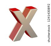 alphabet letter x with red... | Shutterstock . vector #1241430892