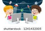 vector illustration of kids... | Shutterstock .eps vector #1241432005