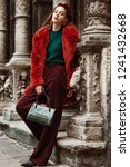 outdoor full body fashion... | Shutterstock . vector #1241432668